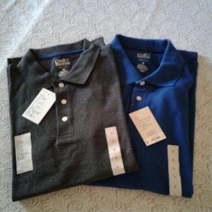 🌺 NWT 2 Mens Croft & Barrow Pique Polo Shirts